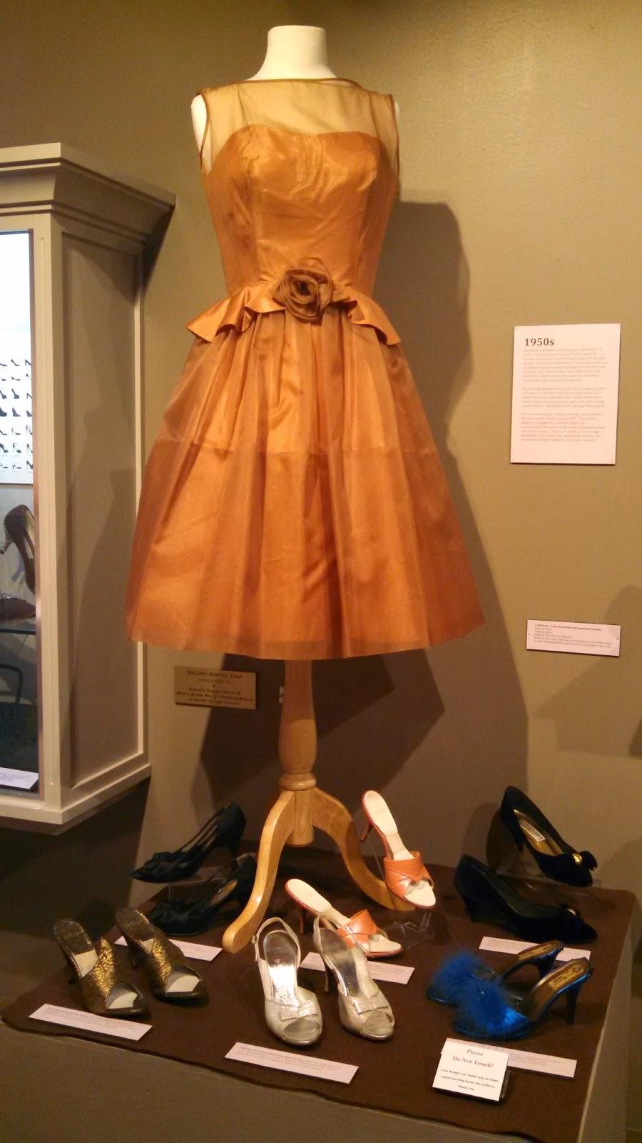 Anna Alexander at the shoe exhibit