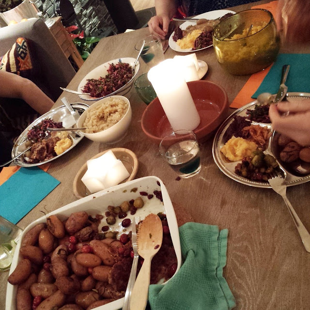 Vegan fiesta during Christmas