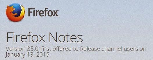 Mozilla Rilis Firefox Terbaru Versi 35.0