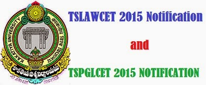 TSLAWCET and TSPGLCET 2015 Notiication