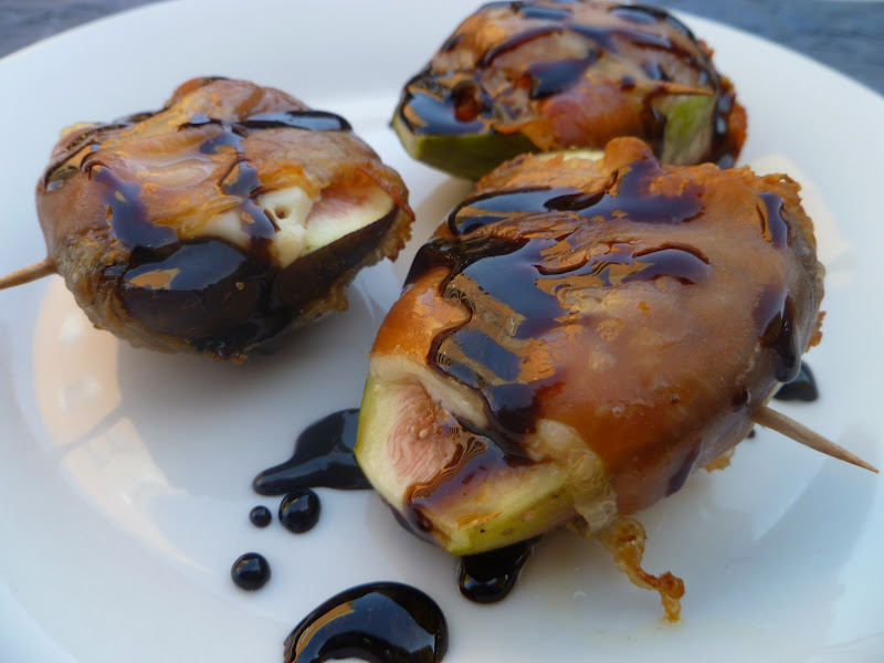 Baked Prosciutto Wrapped Figs Stuffed with Blue Cheese and a Balsamic ...