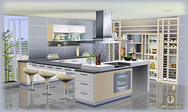 Cozinha the sims 3 for Kitchen designs sims 3