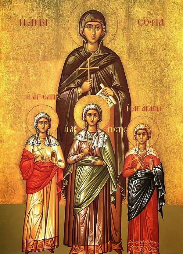 Acatistul Sf. Sofia si a celor trei fiice ale sale
