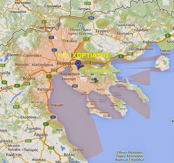 Χάρτης κάλυψης ψηφιακού σήματος για τη ψηφιακή μετάβαση της Κεντρικής Μακεδονίας...