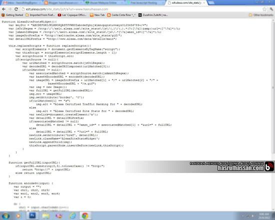 Javascript Code in Blogspot