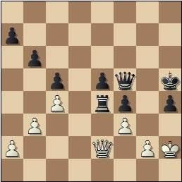 Partida Rico-Russel en el II Encuentro Ibérico de Ajedrez 1946, posición después de 59…Txe4