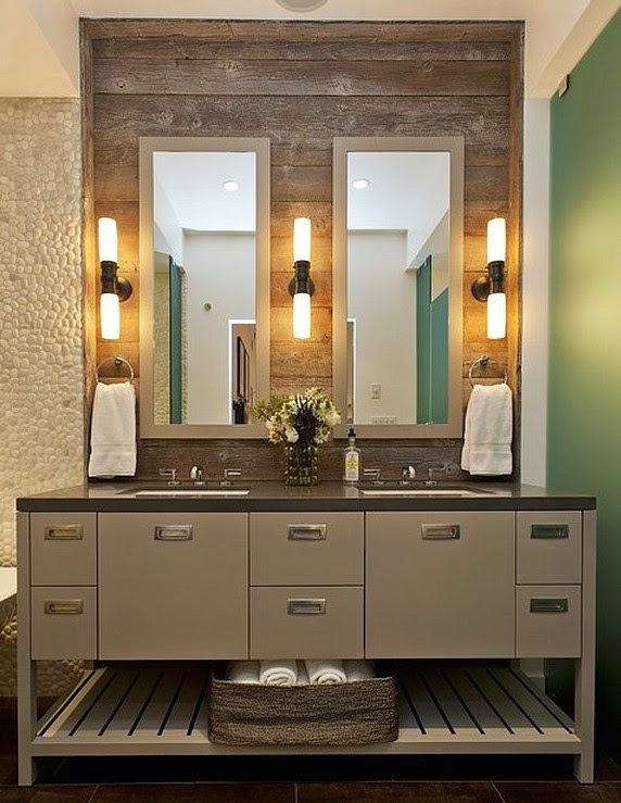 bathroom wall lights on each side of mirrors bathroom lighting scheme
