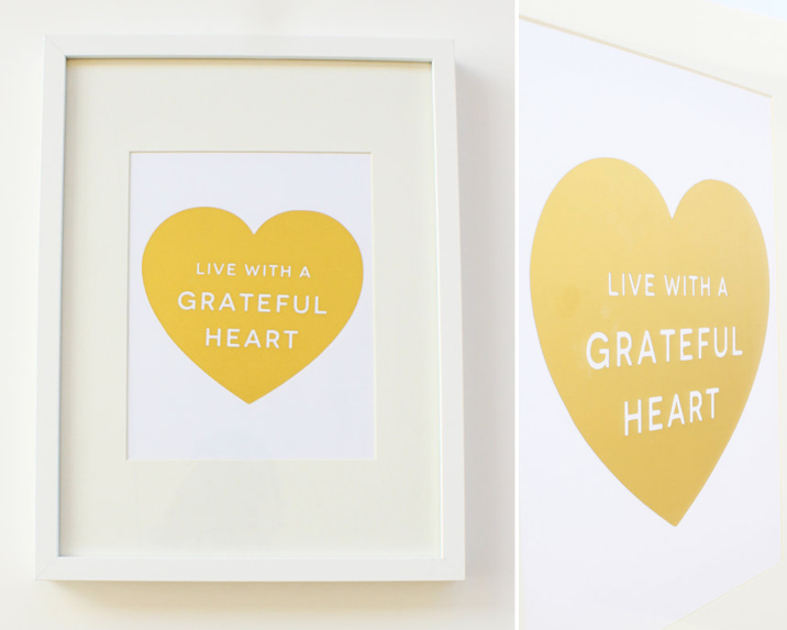 Kimberly Church | Gold Foil - Grateful Heart