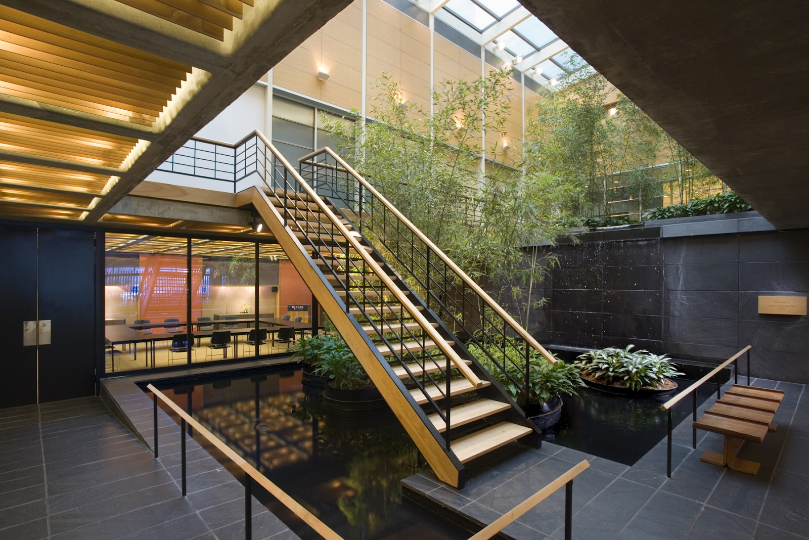 Japan society japan house an american made distinctly for Interior garden design