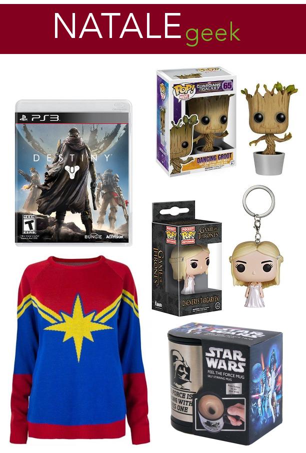 Natale, regali, suggerimenti, idee regali, geek, Star Wars, regali geek, Trono di Spade, Marvel, Guardiani della Galassia, Goot, Funko Pop, action figure, idee