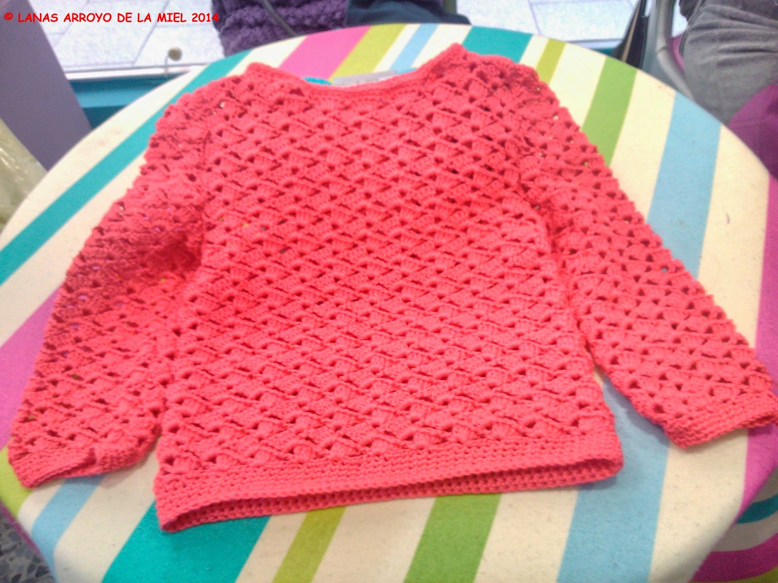 jersey crochet niña
