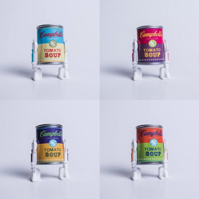"""""""Colored Campbell's Soup Can Variant"""" Star Warhol Bootleg Star Wars Resin Figure by Killer Bootlegs"""
