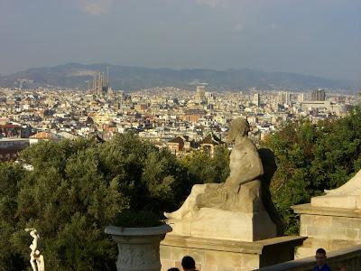 Sagrada Familia from Montjuïc in Barcelona