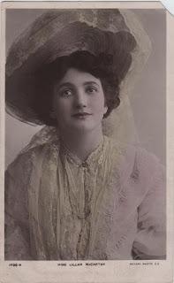 Vintage postcard of Miss Lillah McCarthy