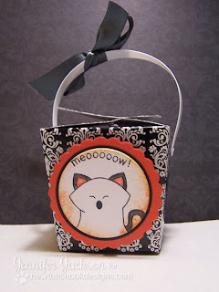 ghost cat Halloween Treat Box using Boo Crew stamp set