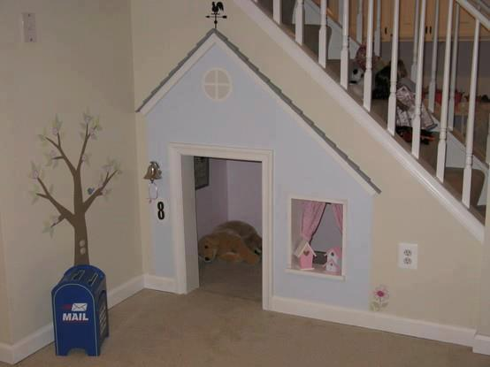 dog house under the stairs   Daily Vowel Movements