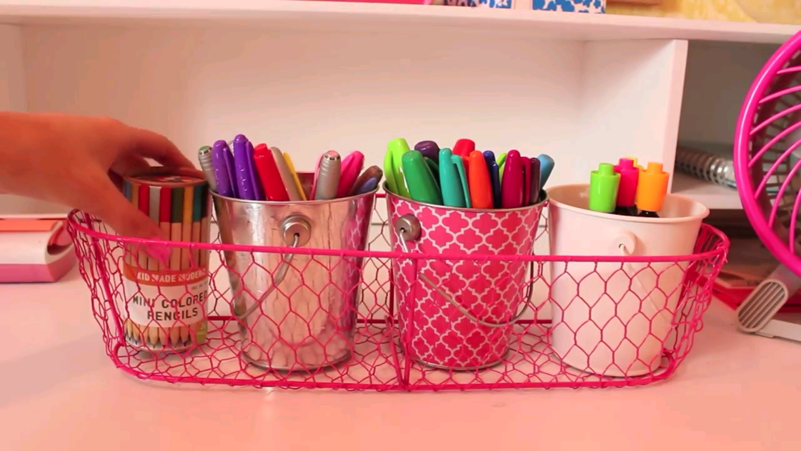 Inexpensive desk organizer