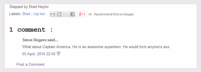 Steve Rogers is blowing Captain America's horn
