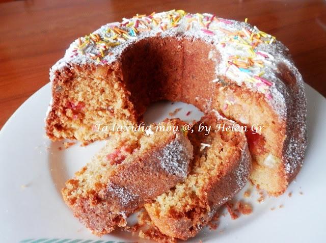 Κέικ με Μαστίχα και Καραμελωμένα Φρούτα