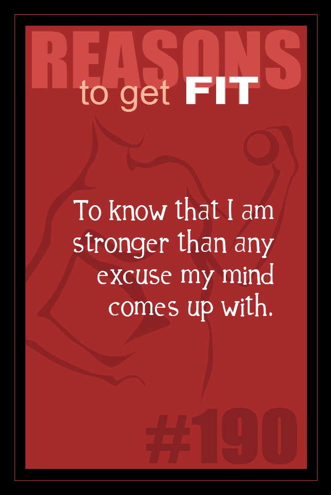 365 Reasons to Get Fit #190
