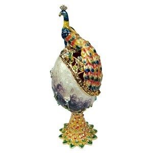 Peacock Trinket Jewelry Box