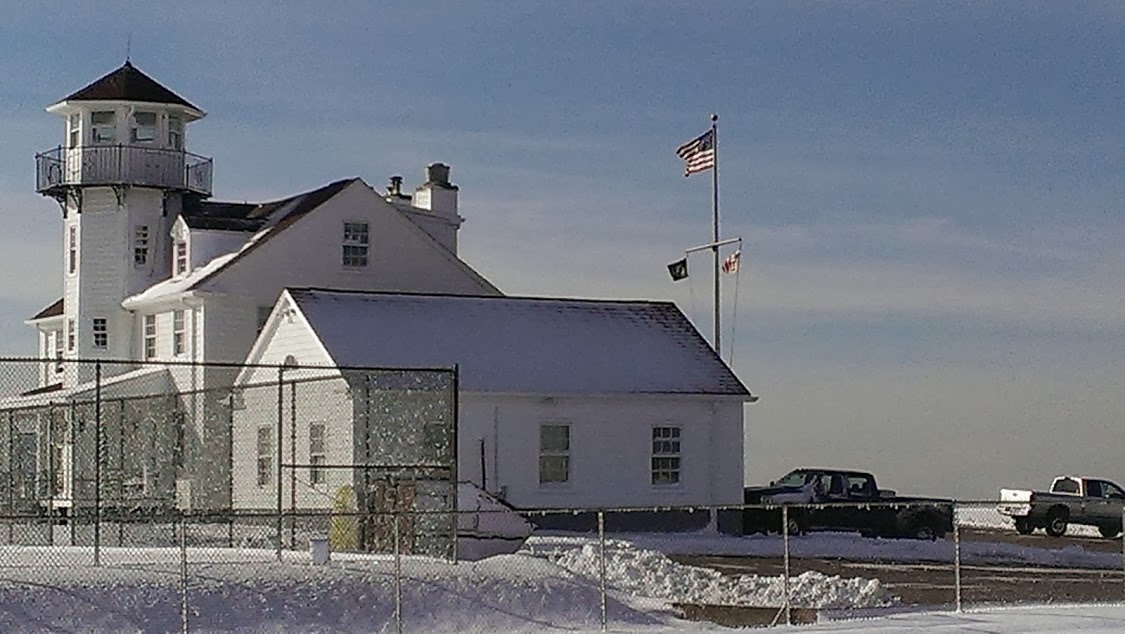 Lighthouse with snow