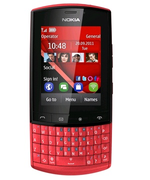 Nokia Asha 303 Rojo Tienda Claro Perú