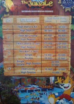 Harga Tiket Masuk The Jungle Water Park Bogor Liburan Sekolah