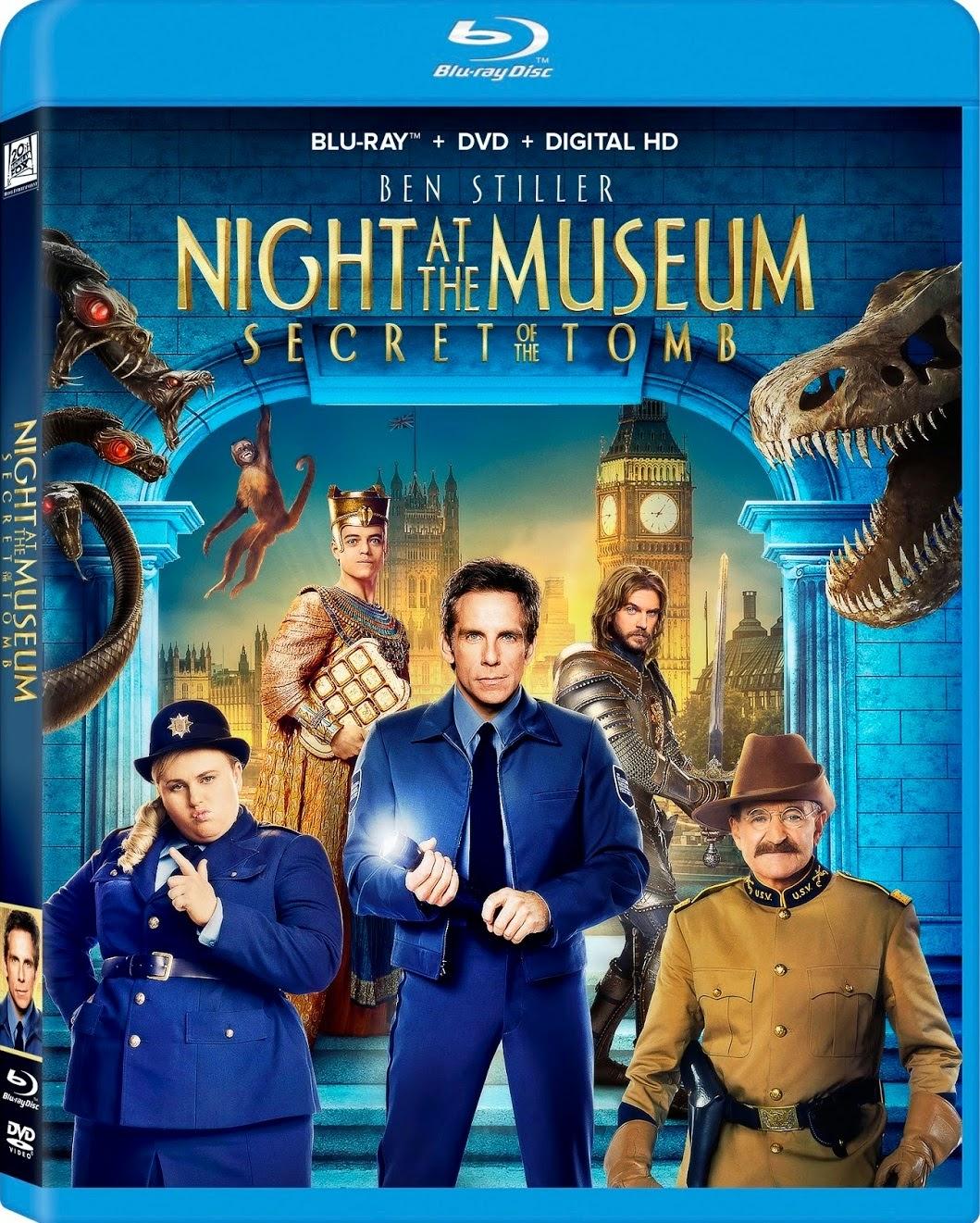 Noche En El Museo El Secreto Del Faraon Cover Caratula Bluray