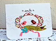 And finally this cute love bird brad scene card is just darling!