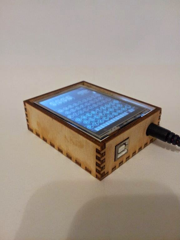 Arduino enigma machine simulator wood case using finger