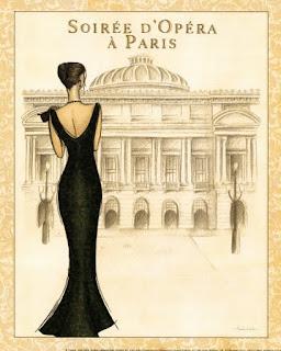 Chica vestida para la ópera de Paris