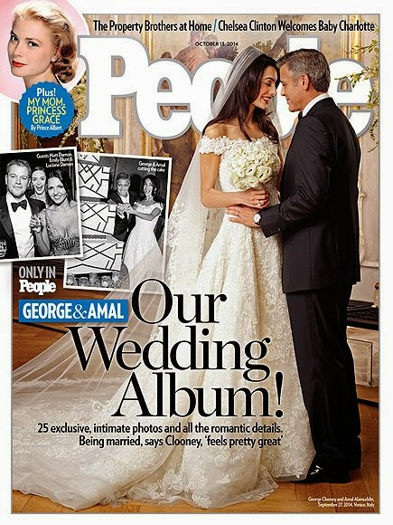 Amal Alamuddin's Oscar de la Renta dress and wedding photographs revealed