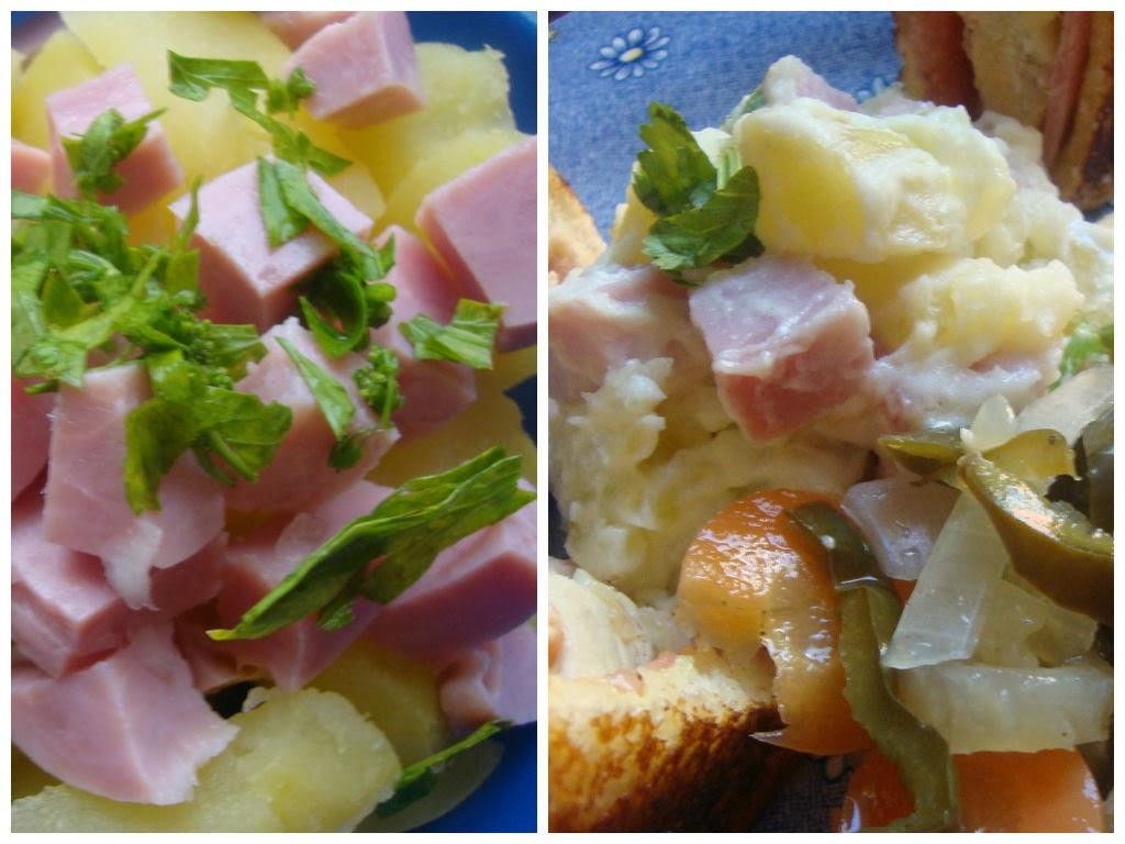 Ensalada de papa y jamón