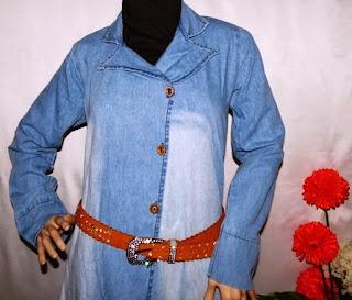 Pusat baju muslim bahan  jeans