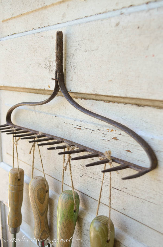 Organizing Garden Tools with a Repurposed Rake | anderson ...