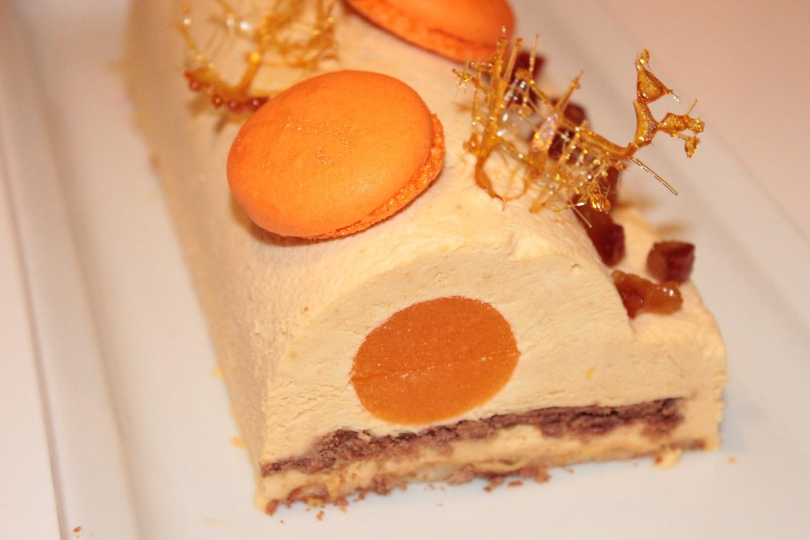 Buche patissiere chocolat mandarine