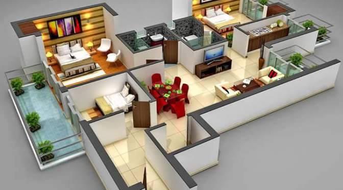 3. Desain rumah minimalis 3 kamar tidur dengan konsep elegant. Pada bagian rumah ini terdapat banyak cendela dengan kaca yang lebar. kelebihan desain rumah ... & Desain Rumah Minimalis 3 Kamar Tidur