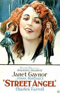 Cartel de la película Steet Angel, El ángel de la Calle, dirigida por Frank Borzage en 1928