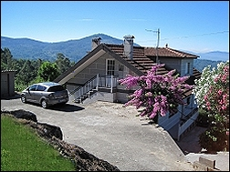 Casa Vila da Rosa, casa completa de montaña en Ponteareas, Pontevedra, Galicia, alojamiento de alquiler completo