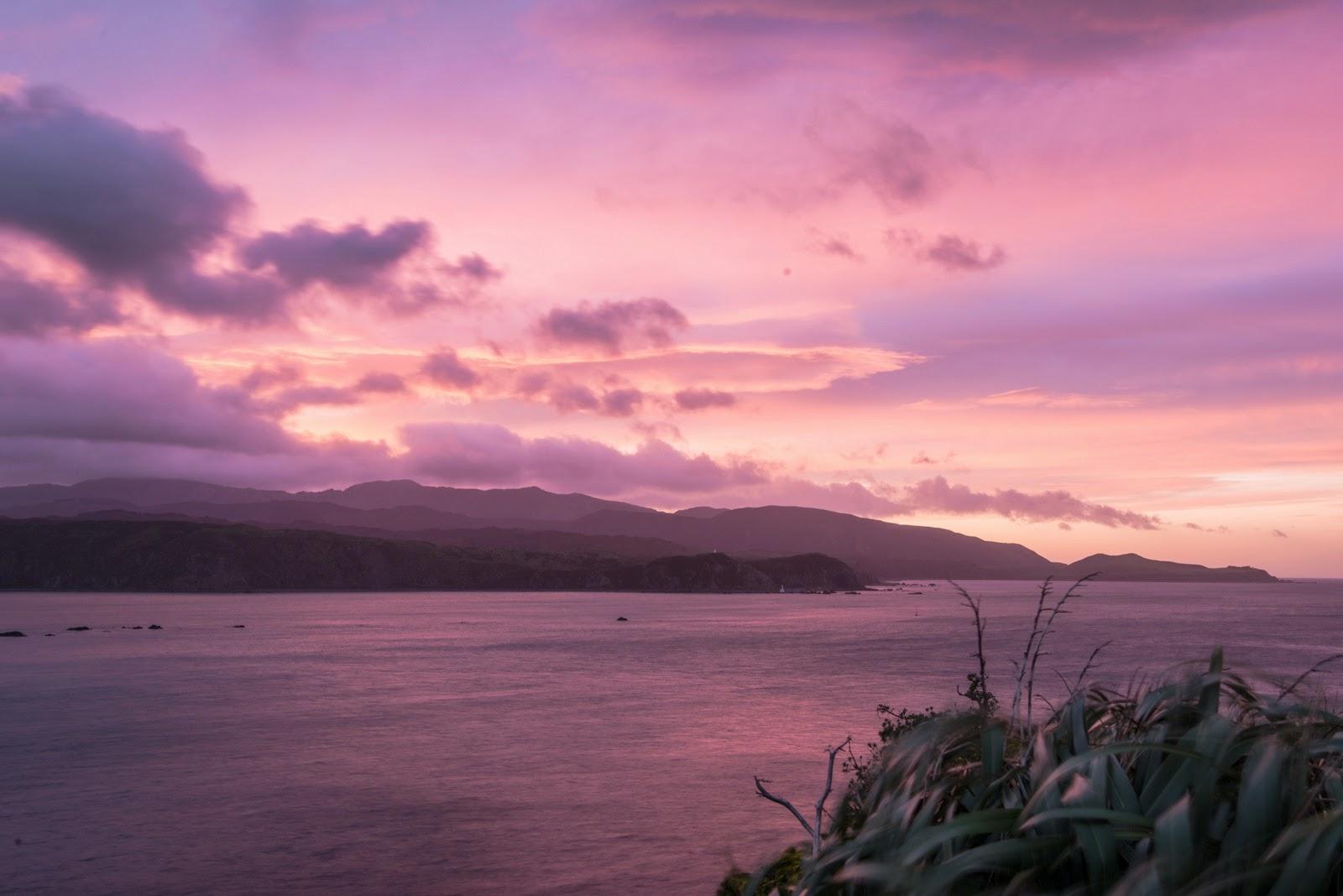 Pink and purple sunrise Ataturk
