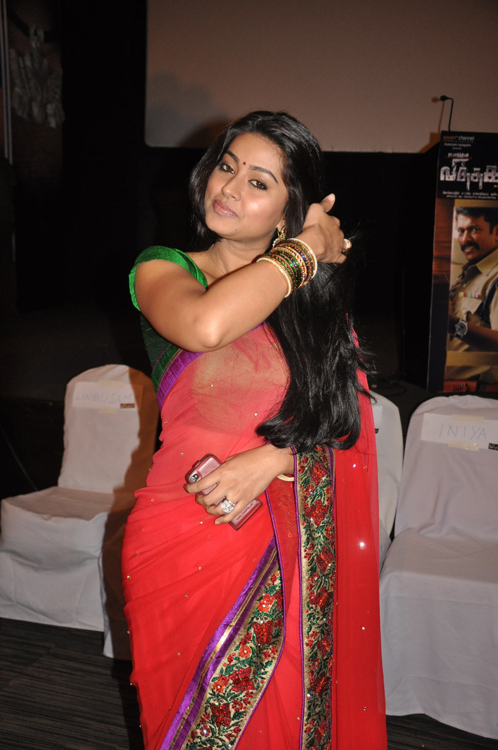 Sneha in a transparent bikini