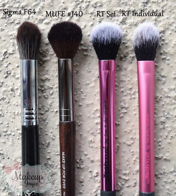 Real Techniques Setting Brush vs MUFE 140 Review