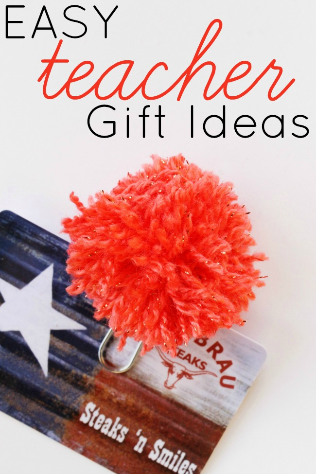 Cheap and Easy Teacher Gift Ideas:  Pom Pom Bookmarks