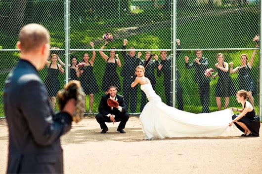 wedding ideas baseball wedding photo