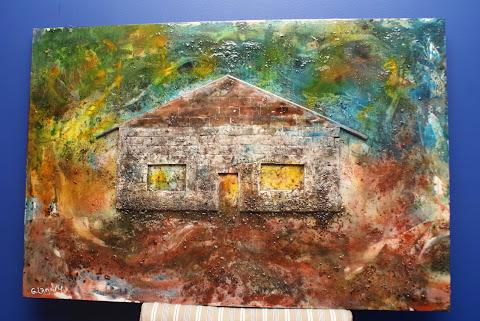 Toile peinte par Ghislain pour mon projet