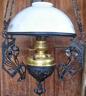 Art Nouveau Hanging Lamp 40