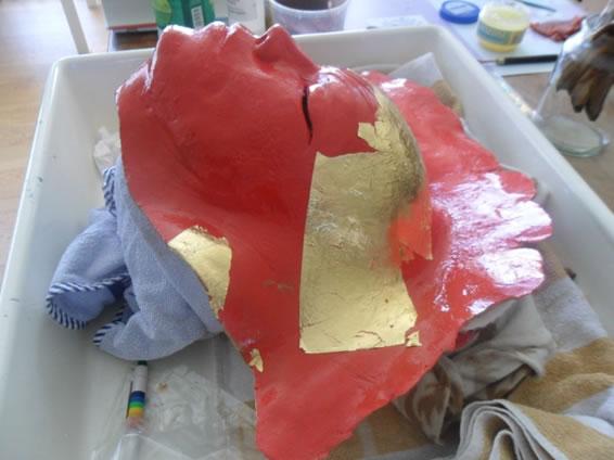 bladgoud masker