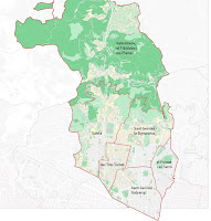 Districte de Sarrià-Sant Gervasi, mapa