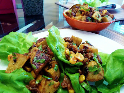 Chorizo and Sweet Potato Lettuce Wraps